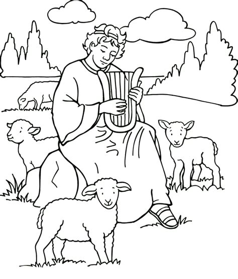 david  absalom coloring page coloring home