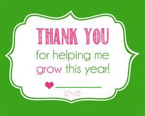 teacher gift idea thanks for helping me grow laura utz