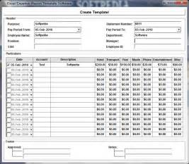 Excel Report Templates Free excel expense report template software screenshot 1 from