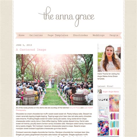 free girly templates for blogger anna grace blogging wordpress theme wpexplorer