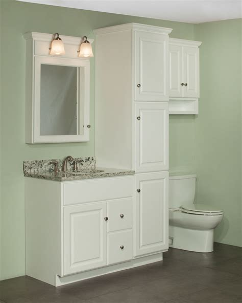 Bathroom Vanity With Linen Cabinet 30 Quot Quentin Vanity And Linen Cabinet Ensemble The Newport Door Style Is Shown In Rtf Maple