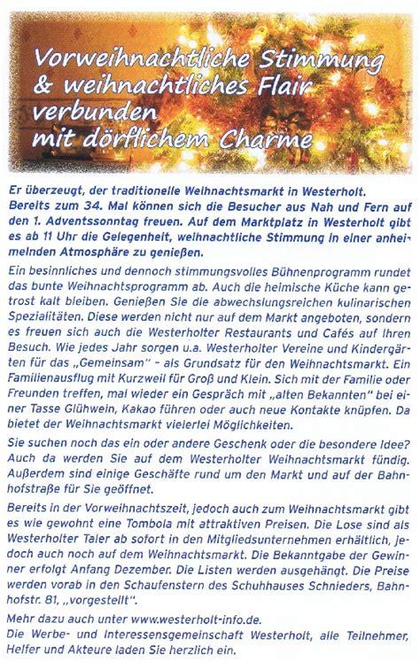 wohnkultur westerholt westerholt info de 187 weihnachtsmarkt programm tombola