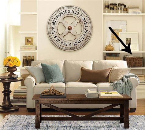 pottery barn living room ideas running with scissors vintage crate for magazine storage