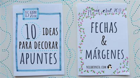 margenes para cuadernos 10 ideas para decorar apuntes cuadernos o agendas fechas