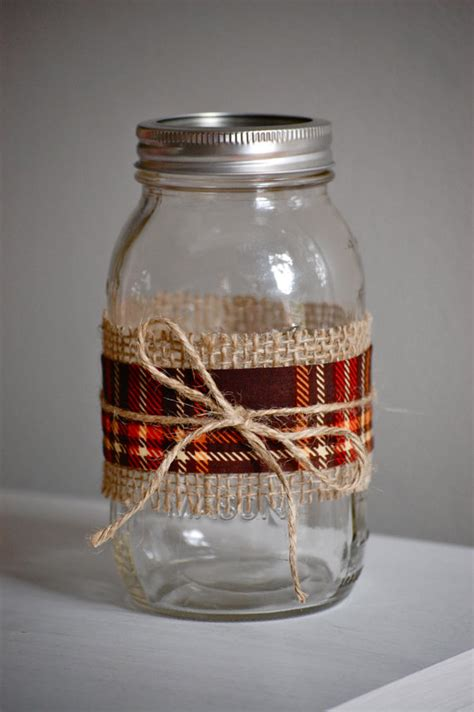 decorating with jars for fall items similar to plaid fabric jar fall wedding