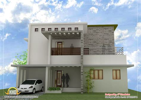 contemporary modern home plans contemporary home design 2087 sq ft kerala home