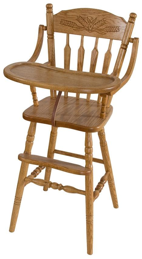 wooden high chair farmhouse wooden high chair from dutchcrafters amish furniture