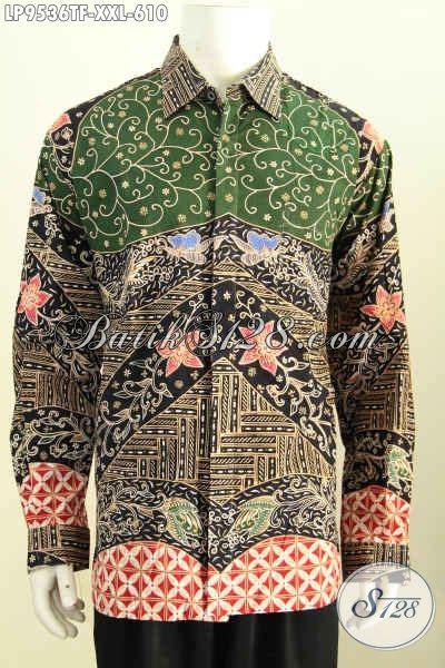 Kemeja Batik Lengan Panjang Bigsize batik kemeja pria gemuk hem batik big size lengan panjang furing bahan halus motif bagus