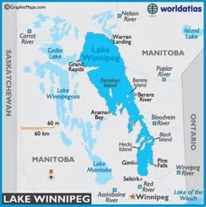 lake winnipeg map and map of lake winnipeg depth size