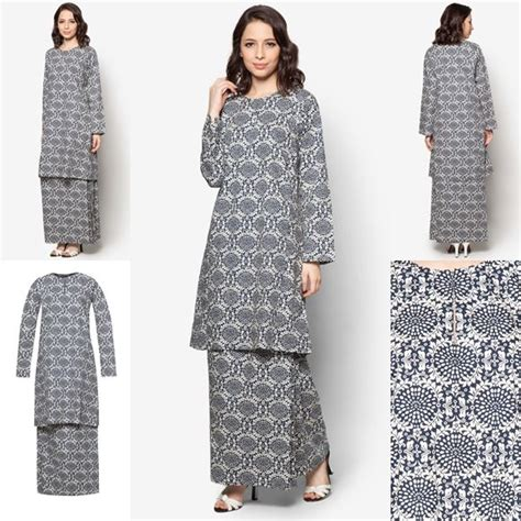 fashion baju raya indonesia baju kurung cotton warna black cream baju raya 2016