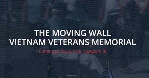 moving wall vietnam veterans memorial  coming  newport whatsupnewp
