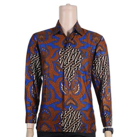 Kemeja Lengan Panjang Katun Shanghai Slimfit Kantor Batik Hitam batik kemeja lengan panjang batik pria lengan panjang slim fit koleksi antik