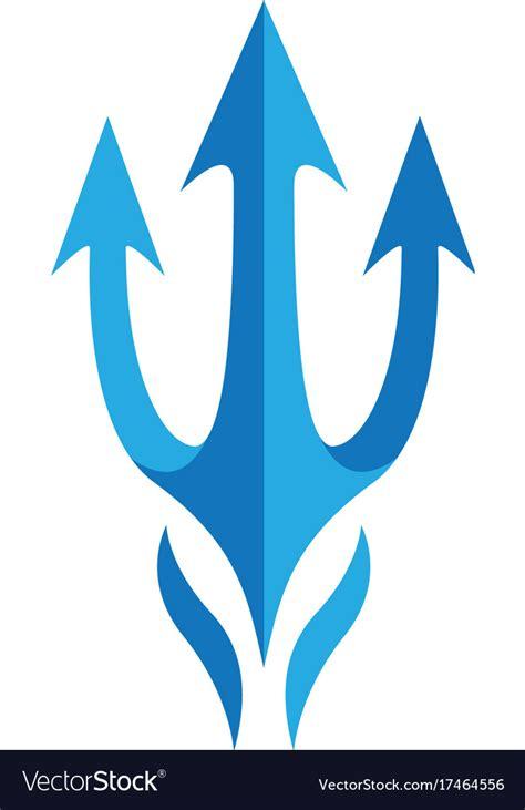 poseidon royalty free vector image vectorstock trident logo template royalty free vector image