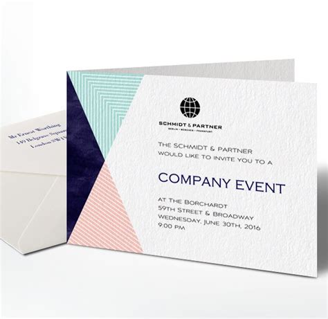 corporate invitation card design template invitations and cards with guest management and