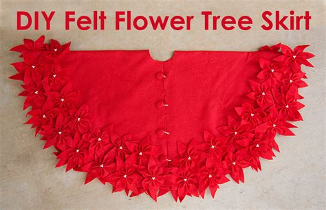 Pattern For Felt Christmas Tree Skirt | felt flower tree skirt stars and sunshine sugar bee crafts