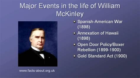 biography facts president william mckinley biography youtube