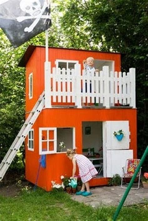 Cool Backyard Forts Great Children S Wooden Playhouse Ideas Owatrol Direct