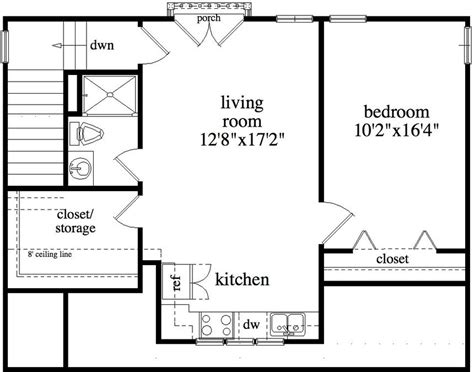apartments above garage floor plans 1 bedroom 1 bath bungalow house plan alp 09b2