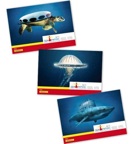 ufficio postale la spezia seafuture tre annulli filatelici con poste italiane