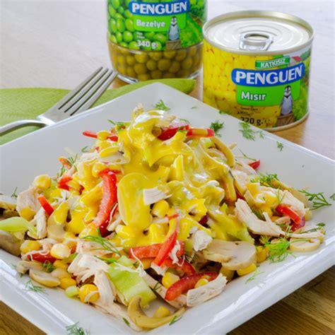 penguen yemek tarifleri misirli bezelyeli makarna salatasi penguen yemek tarifleri mısırlı bezelyeli tavuk salatası