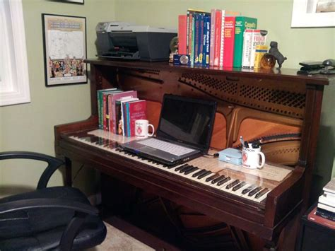 Piano Computer Desk 29 Best Images About Repurpose Pianos On Keyboard Upright Piano And Computer Desks