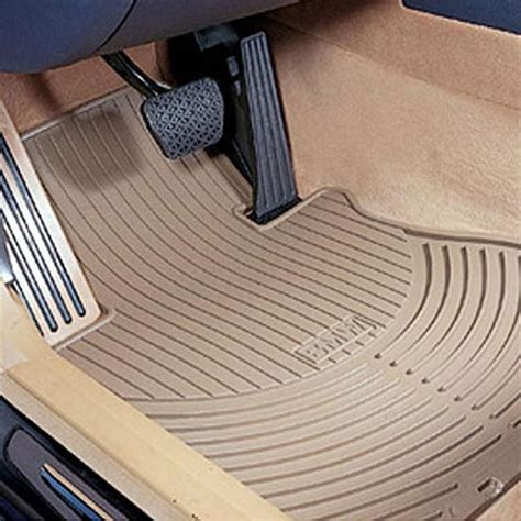 bmw 02 06 7 series rear all weather rubber floor mats beige