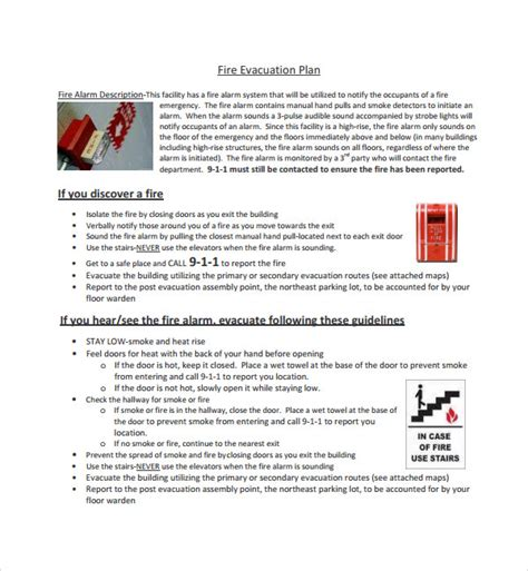 sle evacuation plan template 9 free documents in pdf