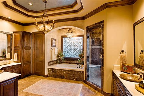 custom master bathrooms mediterranean 7018 sterling custom homes