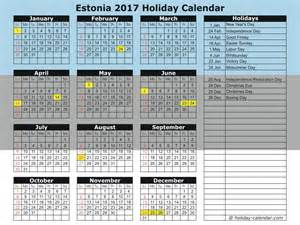 Estonia Calendã 2018 Estonia 2017 2018 Calendar