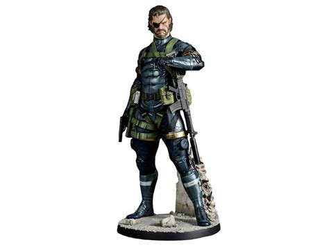 First4figures Mgs Solid Snake Statue Metal Gear Solid V Ground Zeroes 1 6 Scale Snake Statue