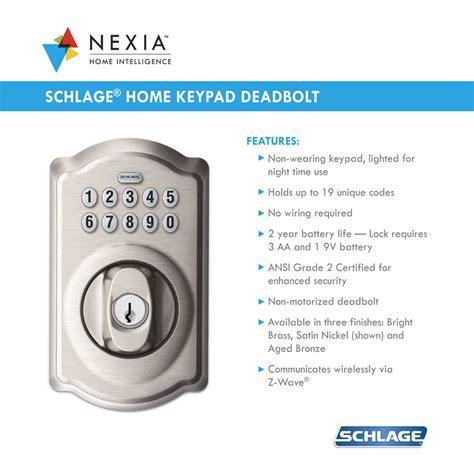 schlage be369grnx 619 keypad deadbolt home security