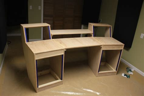 My Diy Studio Desk Build Gearslutz Pro Audio Community Diy Workstation Desk