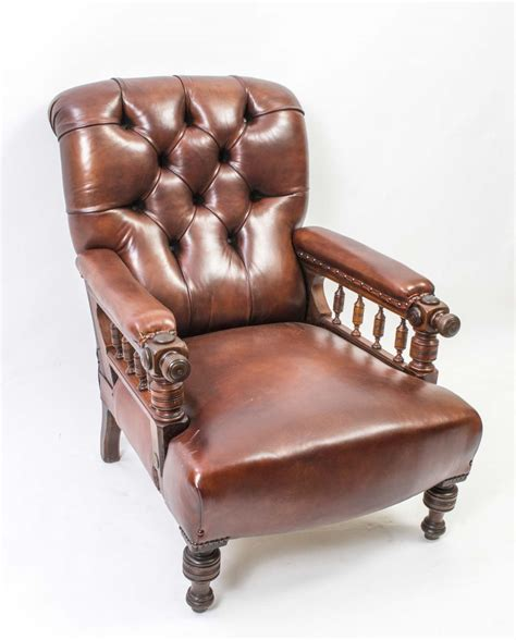 antique leather recliner antique victorian leather reclining armchair c 1860 ref