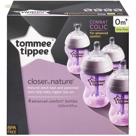 Botol Anti Colic 260ml Tommee Tippee tommee tippee advanced comfort anti colic 260ml baby feeding bottles 4 pack 0m 163 24 65
