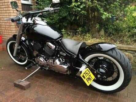 dragstar  bobber goeruentueler ile motorsiklet
