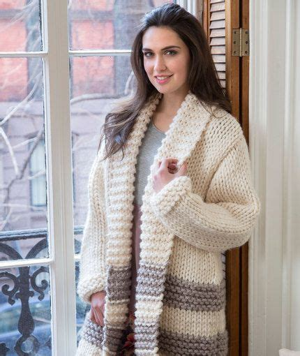 easy knit jacket pattern cozy car coat free knitting pattern from yarns