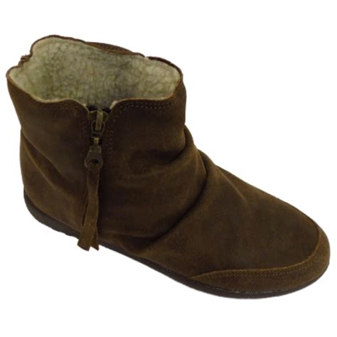 s fleece lined boots ankle boots brown italian leather fleece lined flat