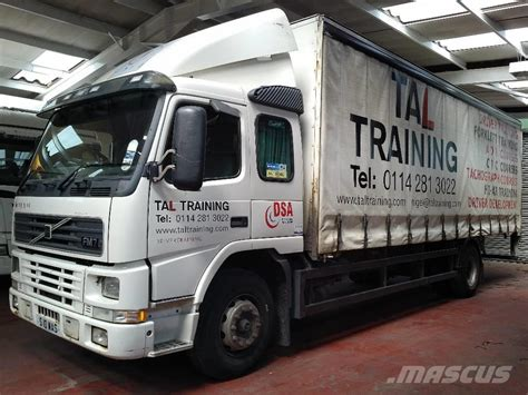 volvo truck curtains used volvo fm7 250 curtain side trucks year 1998 price