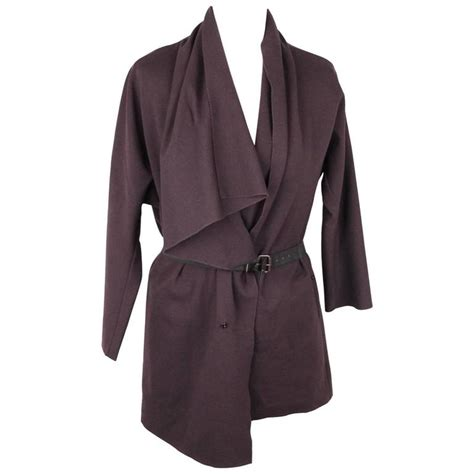 waterfall drape cardigan lanvin dark purple wool blend waterfall drape cardigan w