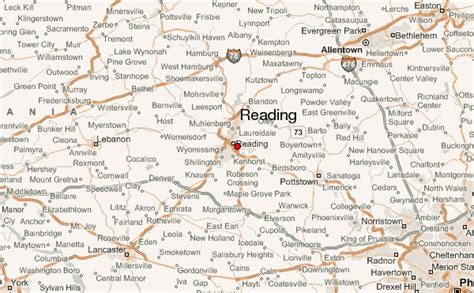 reading map reading pennsylvania location guide