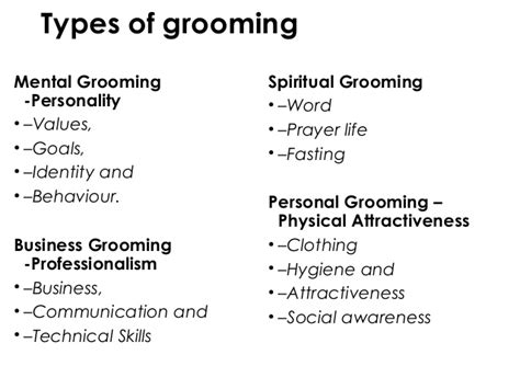 For Your Hair And Personality Grooming by Personal Grooming For Christian