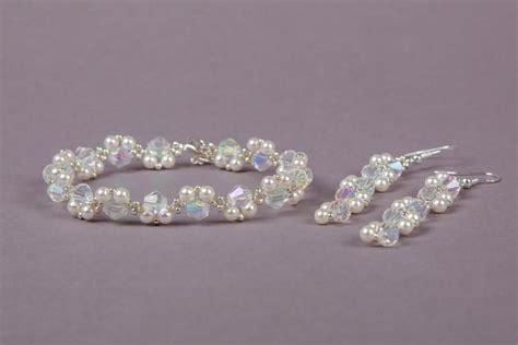 hochzeit set swarovski bridal swarovski jewellery set wedding swarovski white