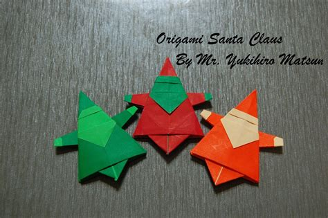 Easy Santa Origami - origami step by step how to make origami