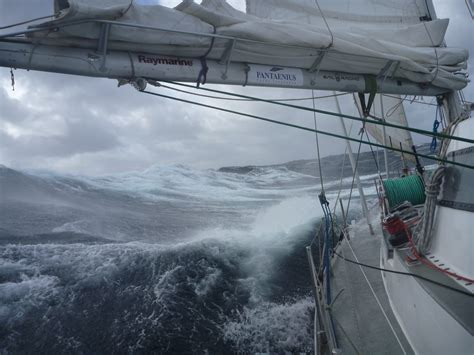 trimaran in heavy weather editor glenn claims a first off cape horn yachting world