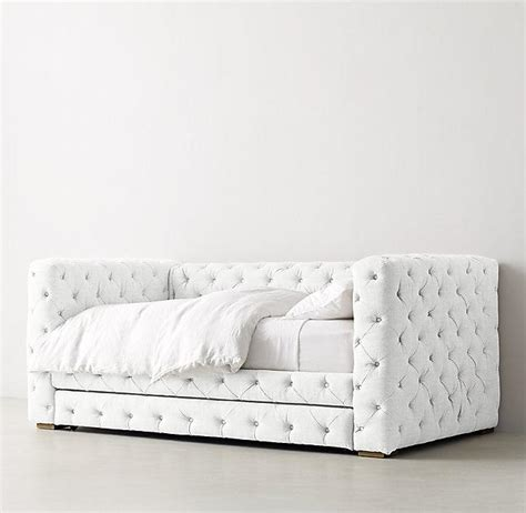 tufted day bed gray velvet button tufted elton daybed