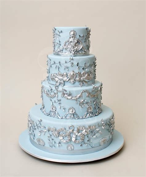 Winter Wedding Cakes by Blue Winter Wedding Cake Inspiration Bold Beautiful