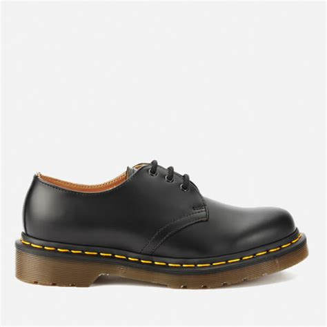 Dr Martens 1461 Black 3 dr martens 1461 smooth leather 3 eye shoes black
