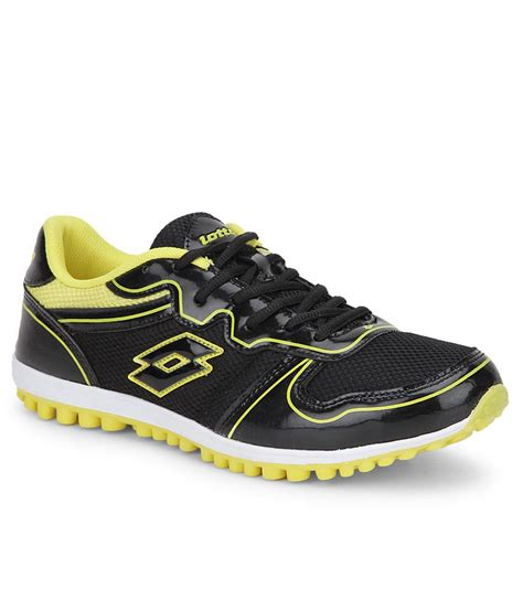 lotto sports shoes lotto verve black running sports shoes price in india buy