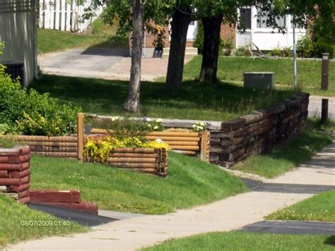 Landscape Timbers Retaining Wall Outdoor Garden Design Inspiring Landscape Timbers For