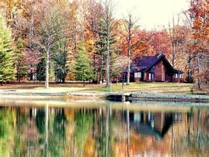 cabin by the lake print by judith lawhon